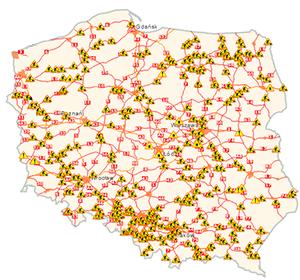 Mapa warunków drogowych